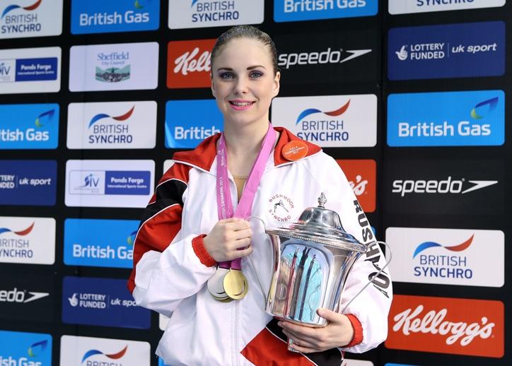 Jorja Brown gold British Champs 2013 synchro
