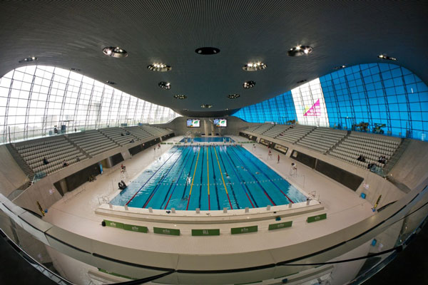 Memorable swimming pools. London Aquatics Centre